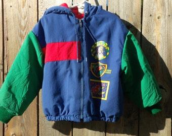 Vintage Boys Oshkosh Space Traveler Jacket Boys Size 6
