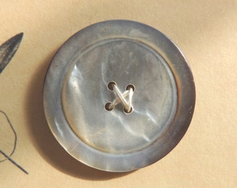 Huge Mother of Pearl Button
