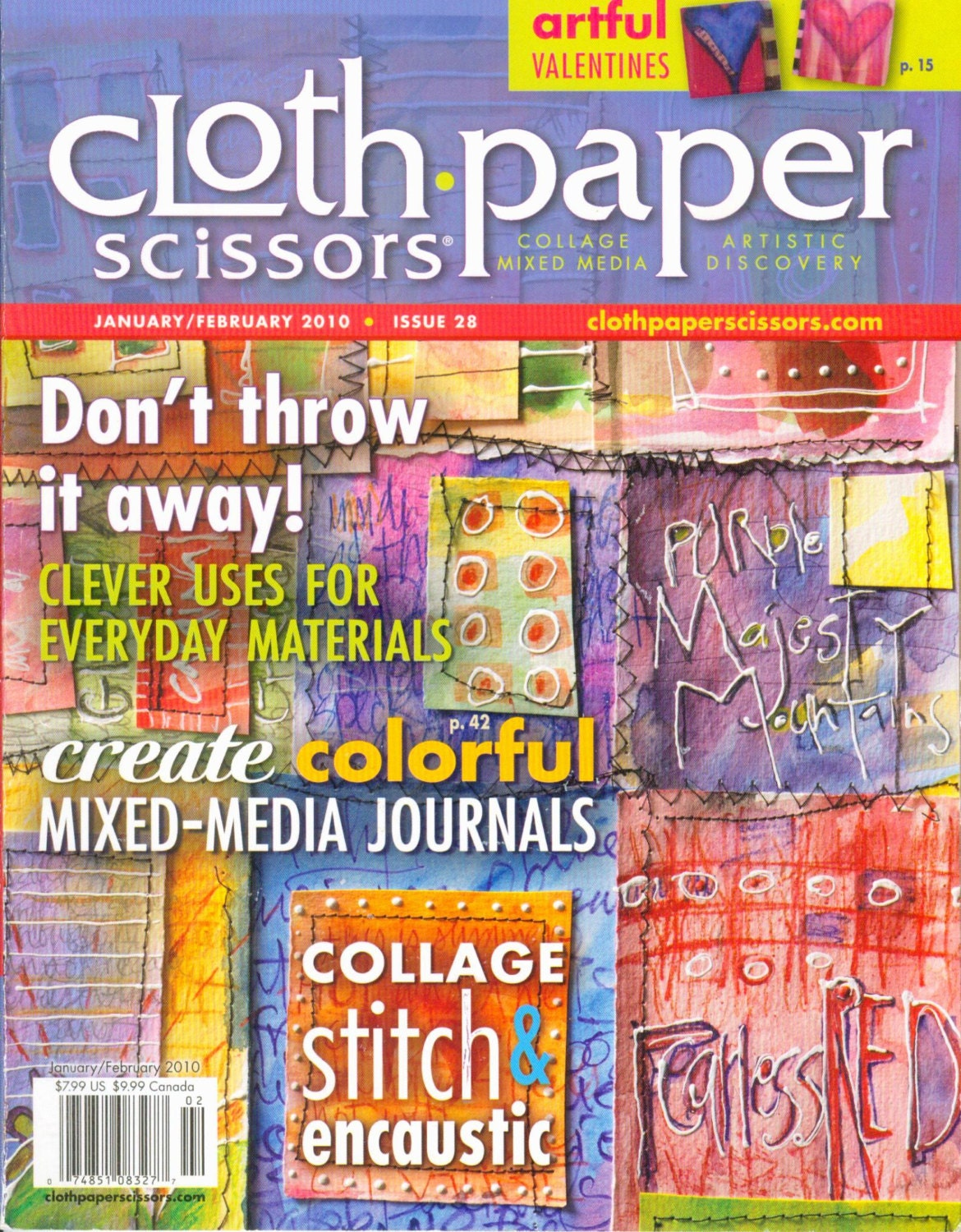 Cloth Paper Scissors 2010 Magazine Mixed Media Collage Art OOP