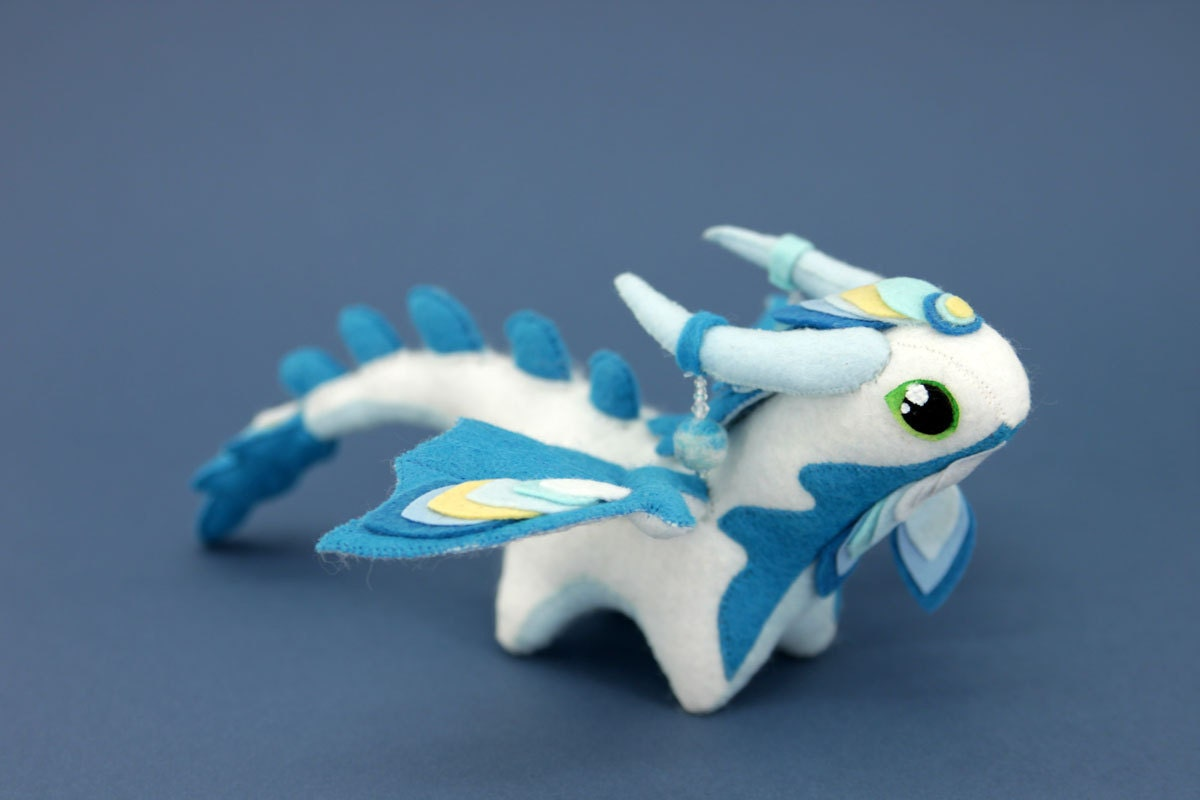 Soft toy dragon Made to order fantasy plush animal textile