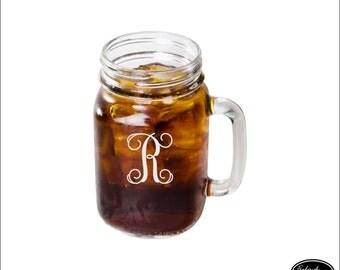 mason jar glass mug ships fast mason drinking glasses monogrammed gifts - Mason Jar Glasses