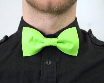 Handmade Neon Green Bow Tie