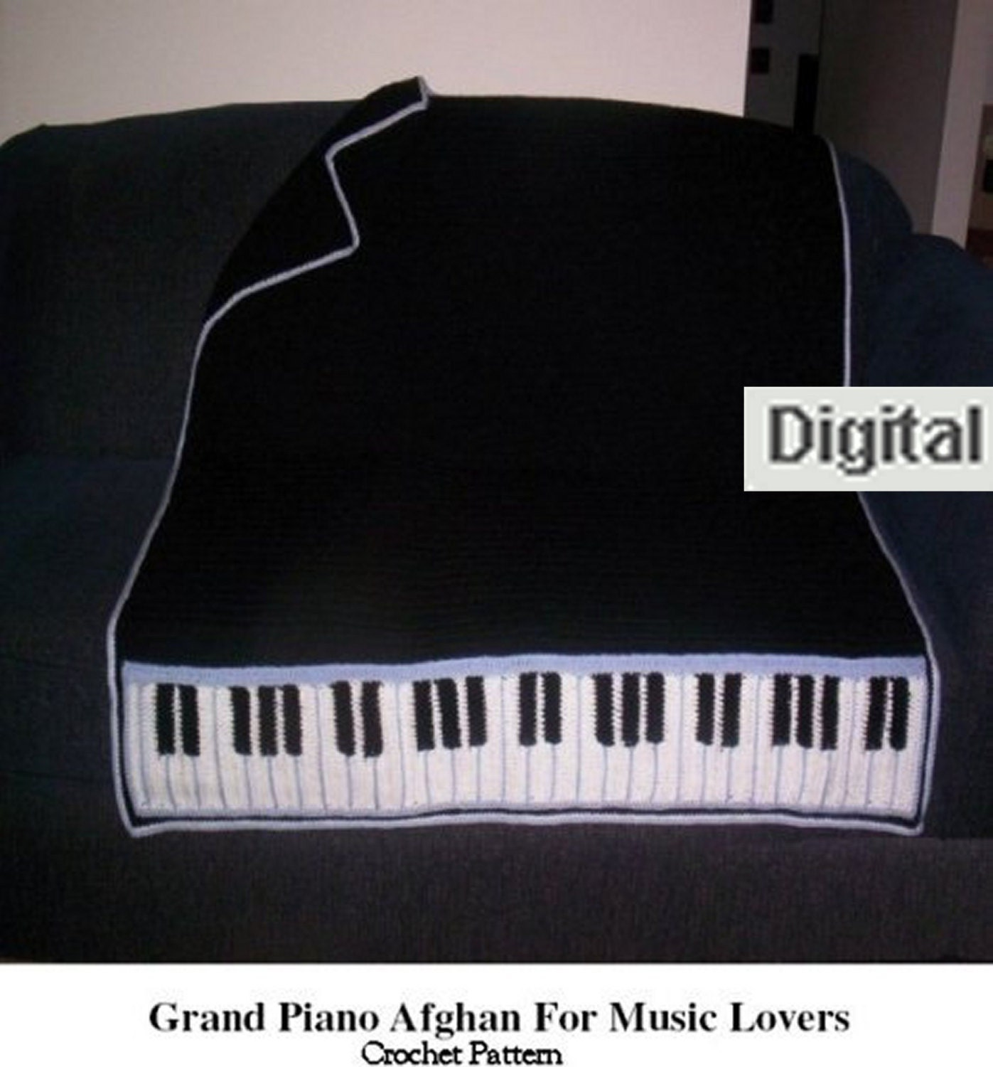 Crochet Pattern For Piano Afghan : Piano Afghan Crochet Pattern Afghan Pattern pdf by postalsusie