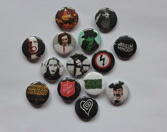 Marilyn Manson set of 14 pin-back buttons