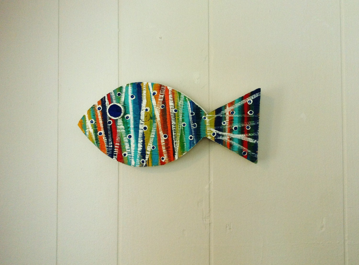 Fish Wall Decor Wood : Wooden fish beach coastal wall hanging decor