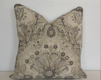 Lee Jofa Tetbury in the color Grey/Bisque Pillow Cover