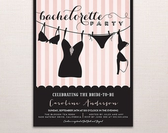 HAPPY HOUR Custom Bachelorette Invitation Card