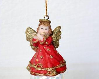 Vintage Angel Glass Bubble Ornament
