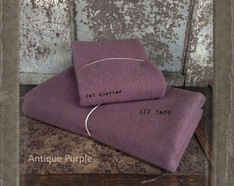 Wool: Fat Quarter 100% Wool - ANTIQUE PURPLE - Marcus Fabrics