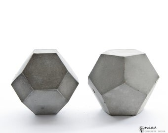 Geometric Concrete Decor, modern concrete art, Set of two, paperweight, beton bookend, office or home decor, modern concrete sculpture