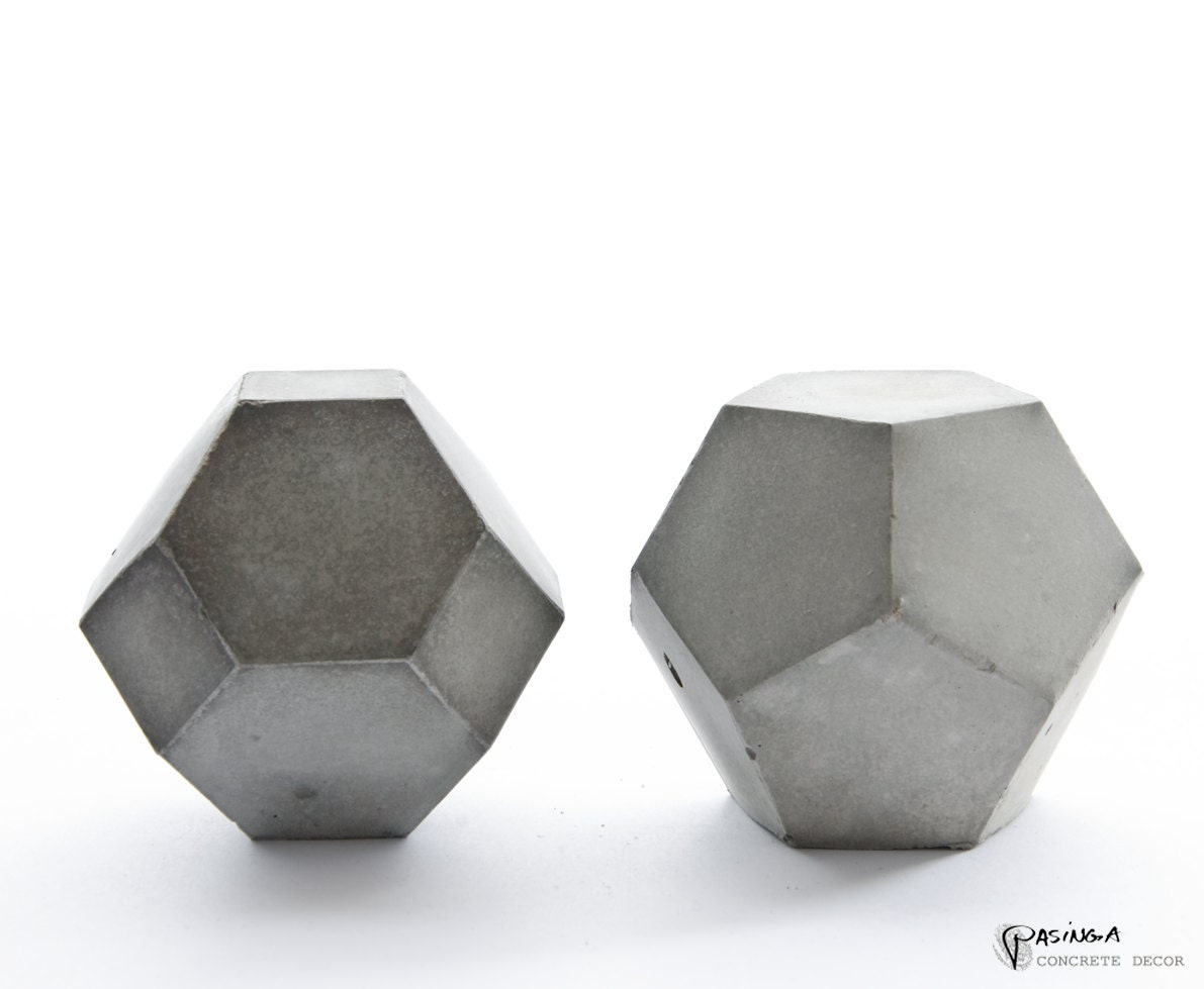 geometric concrete decor modern concrete art set of two