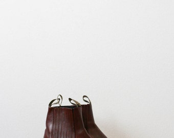 vintage 70s maroon lamas leather western boots