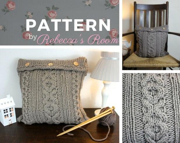 Knitting Pattern Central Pillows : XOXO cushion cover knitting pattern home decor pdf pattern