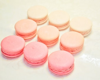 Pink Ombre French Macaron - 3 dozens (3 flavors)