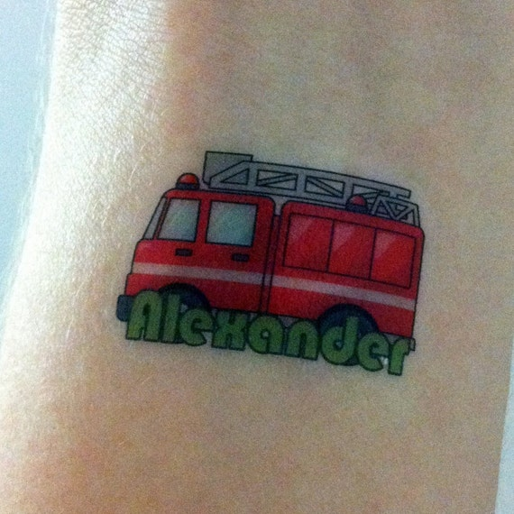 Flower arm tattoos for guys custom temporary tattoos etsy for Custom temp tattoos