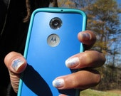 Blue Snowflake Nail Decals - Winter Snow Nail Art - Featuring Moto X provided by Motorola Mobility
