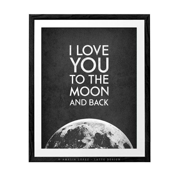 ich liebe dich bis zum mond und zur ck valentinstag print. Black Bedroom Furniture Sets. Home Design Ideas