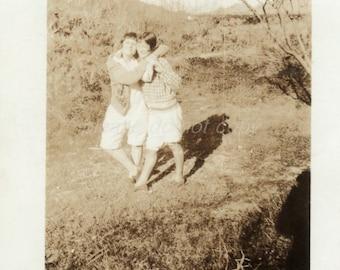Ruth & Mary  ~ girlfriends ~ Vintage Snapshot Photo
