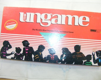 1989 UnGame , 1980s Vintage UnGame Christian Version Game, Complete Board Game