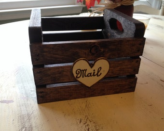 Mail holder, rustic home decor, Mail box