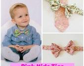 RESERVIERT für TARA, rosa Kinder-Fliege, Freiheit von London drucken Fliege, Kinder Krawatte, Baumwollband, Ring-Träger-Fliege, Freiheit-Druck-Kinder