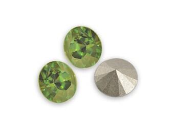 Swarovski crystal Peridot 1028 Xilion SS39 (8mm) round-conical bottom ss 39
