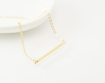 Tube necklace, gold tube necklace, tube charm,gold charm necklace,gold necklace,charm necklace, gold necklace,cute necklace, dainty necklace