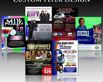 Custom flyer for events, parties, advertising, promotions, charity functions, etc.