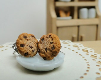 Chocolate Chip Cookie Earrings - Fimo Food