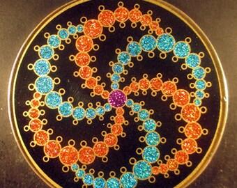 Galaxy Crop Circle Jumbo Gemstone Pendant