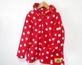 Girls Fleece Jacket' Swing',can be a Girls Hoodie,cool Girls Clothing,a special Gift for Girls,a HandmadeFleeceGirls,warm fall girls clothes