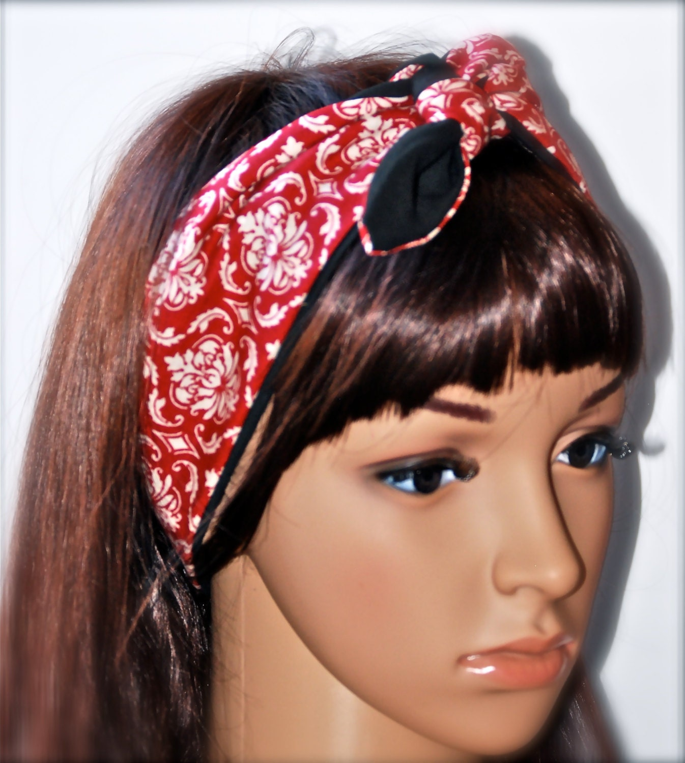 how to make a rosie the riveter head scarf