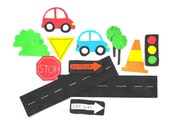 Hand Cut Cars Felt Set, Cars Felt Pieces, Cars Felt Board Piece Set, Felt Board and Felt Pieces, Automobile Felt Set, Felt Toys