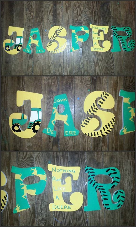 john deere themed hand painted wooden letters by With john deere wooden letters