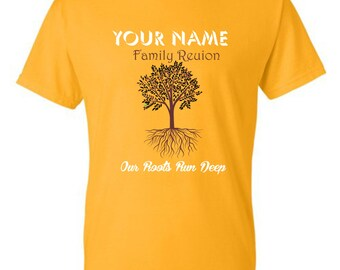 Our Roots Run Deep - Family Reunion T-shirts - 2xl up (12 or more count only)