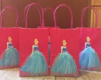 6 Cinderella  Birthday Party Favor Bags