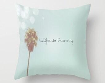 California Dreaming Pillow Case Los Angeles Bedding SoCal West Coast Beach Photography Ocean Surf Nursery