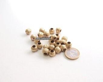 Round Stardust brass beads, 10mm, CF01631