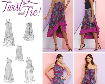 New Simplicity 1164 Misses' Double Layer Wrap Skirt. Size XS-XL