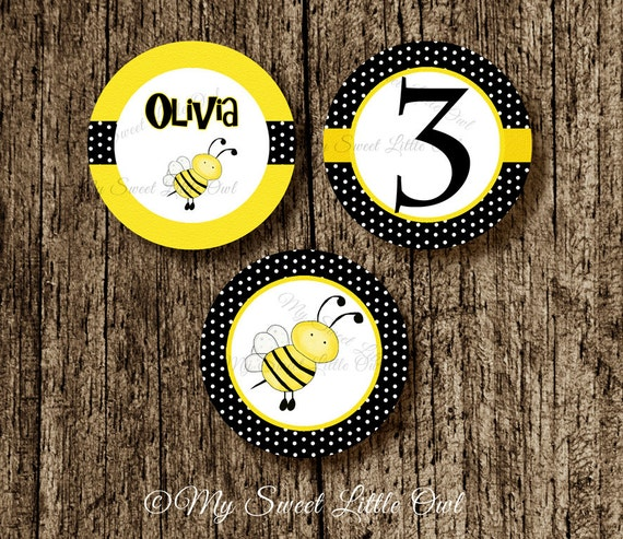 Bumble Bee Cupcake Topper