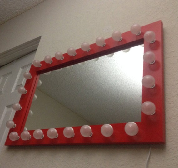 Lighted Vanity Mirror Etsy : Valentine lighted vanity mirror. Handmade. Pine by WoodUBeMine