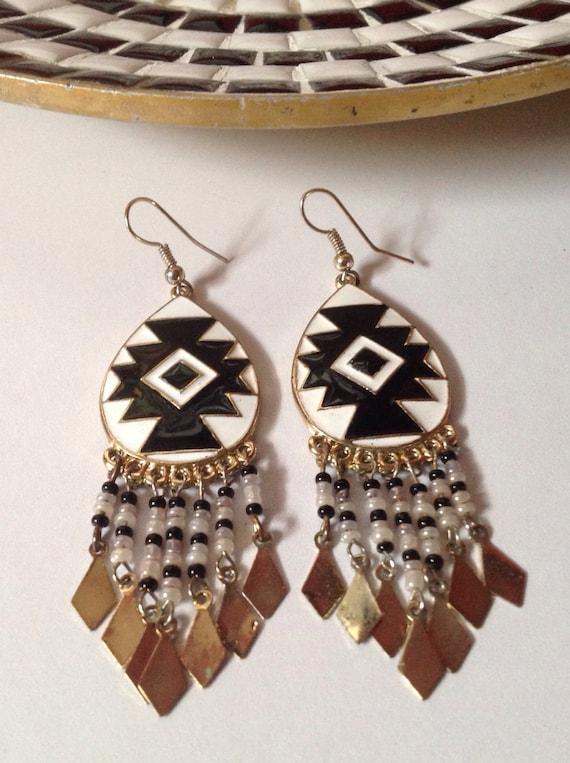 Chandelier Earrings Inspired By Native American By