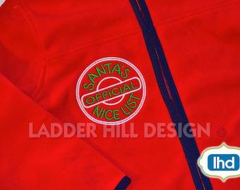 Christmas Applique Design -- Santas Official Nice List ~ Nice List -- Christmas Applique Design CHR042