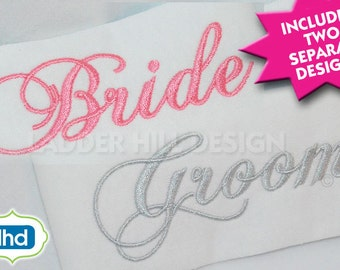 Bride and Groom Wedding Embroidery Design WED003