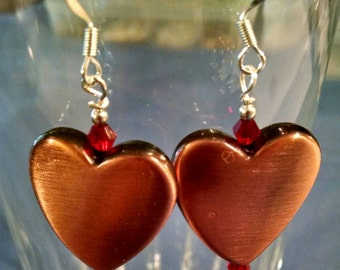 Copper Heart Earrings Perfect for Valentine's Day Item No. 47