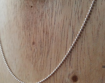 Sterling silver 1 mm Ball chain [18 inch]