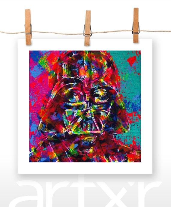 DARTH VADER / Anakin Skywalker ... 10x10 Print of an Original Acrylic Painting