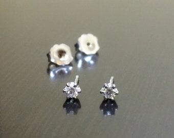 Diamond Earrings - Diamond Studs - 14K Gold Diamond Stud Earrings - 14K Earrings - White Gold Earrings - 14K Diamond Earrings - Fine Jewelry