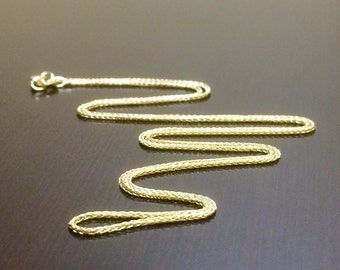 14K Yellow Gold Wheat Chain - 14K Gold Wheat Necklace - 14K Gold Chain - 14K Gold Necklace - 14K Wheat Necklace - Yellow Gold Chain