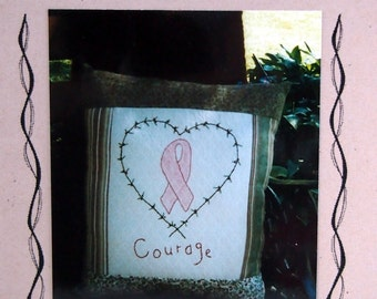 Janet's Courage By The Primitive Heart Embroidery Pattern Packet Undated